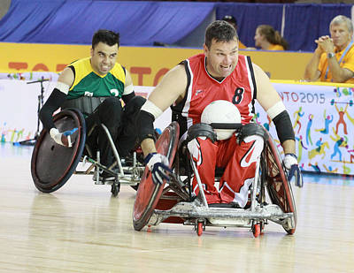 Photograph - Parapan Games Wheelchair Rugby by Hugh McClean