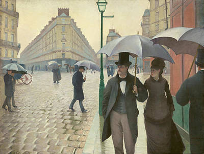 Shower Painting - Paris Street, Rainy Day by Gustave Caillebotte