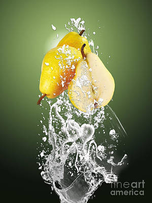 Mixed Media - Pear Splash Collection by Marvin Blaine