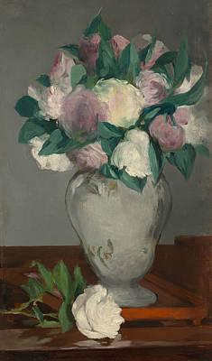 Vase Painting - Peonies by Edouard Manet