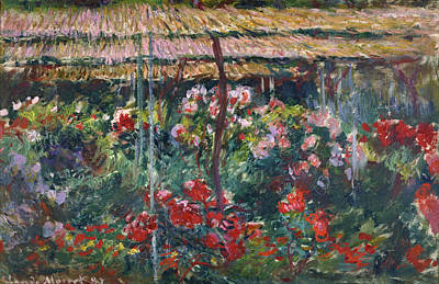 French Painting - Peony Garden by Claude Monet