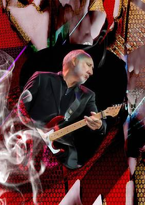Mixed Media - Pete Townshend Art by Marvin Blaine
