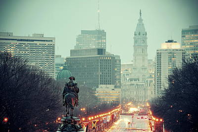 Photograph - Philadelphia Street by Songquan Deng