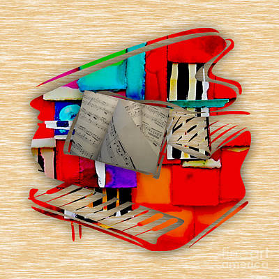 Jazz Mixed Media - Piano Collection by Marvin Blaine