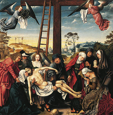 Crucifix Art Painting - Pieta by Rogier van der Weyden