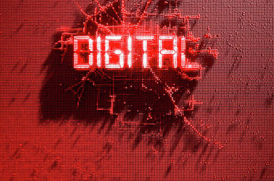 Pixel Digital Concept Art Print by Allan Swart