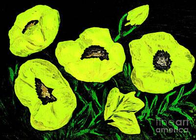 Painting - Poppies, Oil Painting by Irina Afonskaya