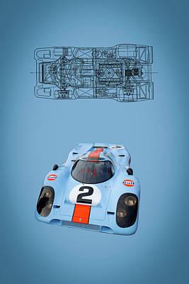 Digital Art - Porsche 917 by Roger Lighterness