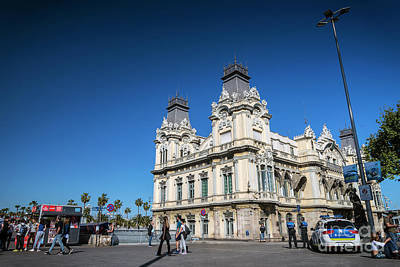 Photograph - Port Vell Landmark Catalan Building In Barcelona Port Area Spain by Jacek Malipan