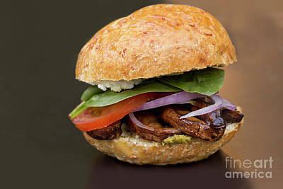 Portobello Mushroom Burger Art Print