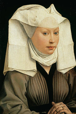 Painting - Portrait Of A Woman With A Winged Bonnet by Rogier van der Weyden