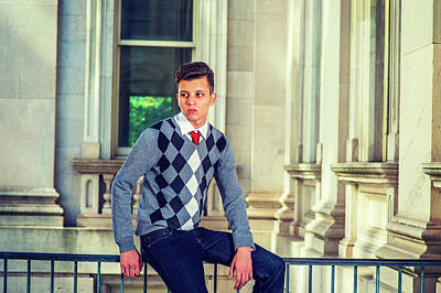 Photograph - Portrait Of American College Student In New York by Alexander Image