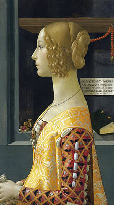 Painting - Portrait Of Giovanna Tornabuoni by Domenico Ghirlandaio
