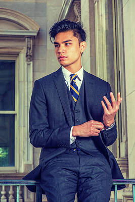 Photograph - Portrait Of Young Asian American Business Man In New York by Alexander Image