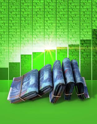 Positive Market Money Art Print