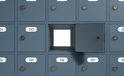 Post Office Boxes Art Print by Allan Swart