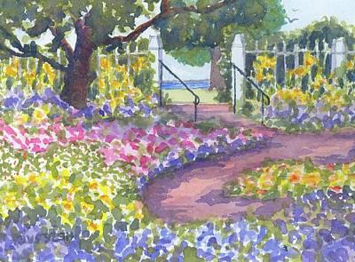 Painting - Prescott Park Portsmouth Nh  by Roseann Meserve