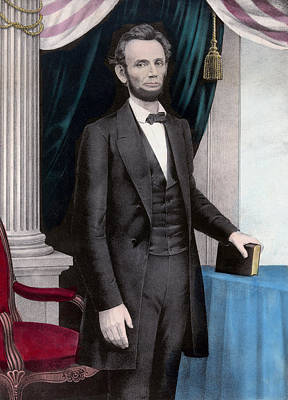 Abe Lincoln Mixed Media - President Abraham Lincoln by War Is Hell Store