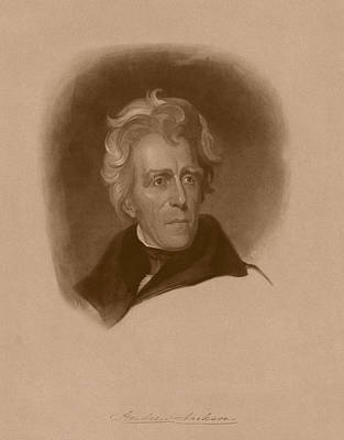 Military Hero Drawing - President Andrew Jackson by War Is Hell Store