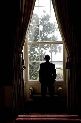 President Barack Obama Looks Art Print