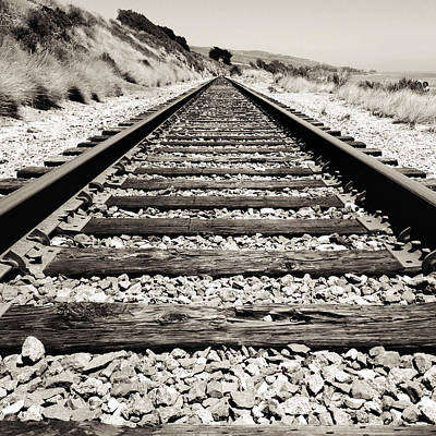 Train Tracks Photograph - Railway Tracks  by Les Cunliffe
