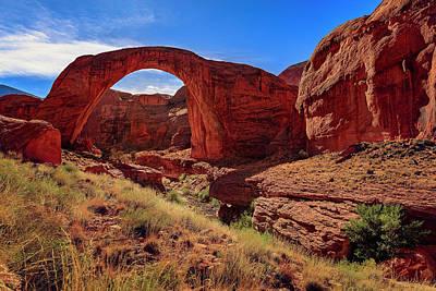 Photograph - Rainbow Bridge Monument by Peter Lakomy