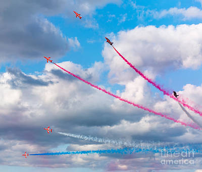 Photograph - Red Arrows Display by Colin Rayner