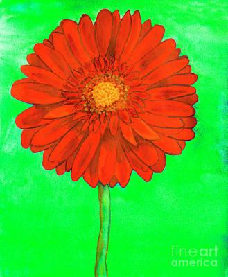 Painting - Red Gerbera by Irina Afonskaya