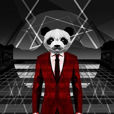 Science Fiction Drawing - Retro Panda by Gallini Design
