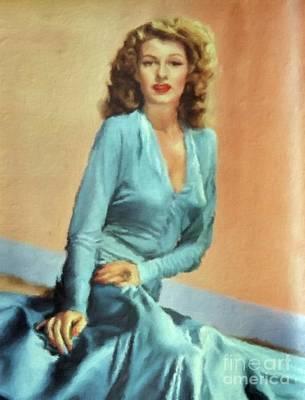 Rita Hayworth Painting - Rita Hayworth Vintage Hollywood Actress by Mary Bassett