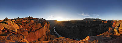 Grand Canyon Photograph - River Passing Through A Canyon by Panoramic Images