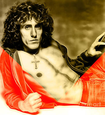 The Who Mixed Media - Roger Daltrey Collection by Marvin Blaine
