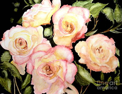Painting - 5 Roses Of Beauty by Carol Grimes