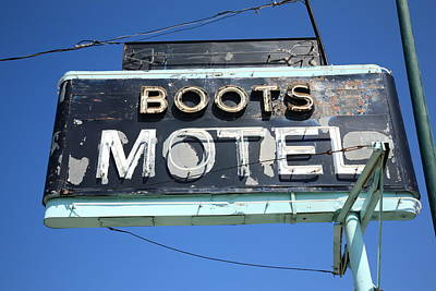 Photograph - Route 66 - Boots Motel by Frank Romeo