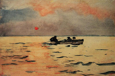 Painting - Rowing Home by Winslow Homer
