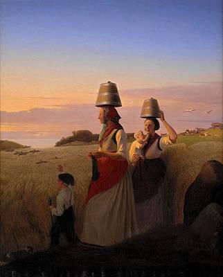 Rural Scenes Painting - Rural Scene by Jorgen Sonne