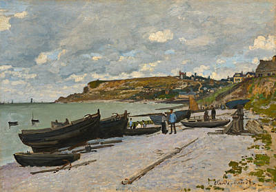 Shore Painting - Sainte-adresse by Claude Monet