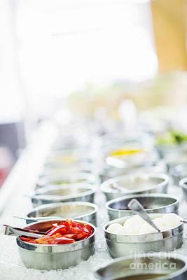 Grace Kelly - Salad Bar Buffet Fresh Mixed Vegetables Display by JM Travel Photography