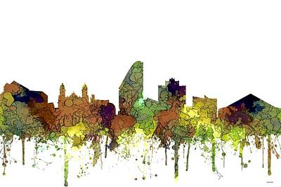 Digital Art - San Jose California Skyline by Marlene Watson