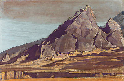 Symbolic Painting - Sanctuaries And Citadels by Nicholas Roerich