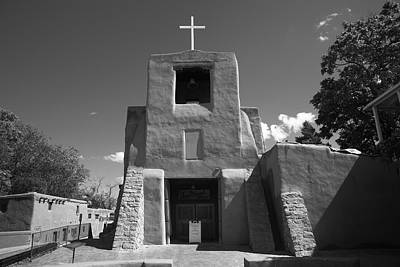 Crucifix Art Photograph - Santa Fe - San Miguel Chapel by Frank Romeo