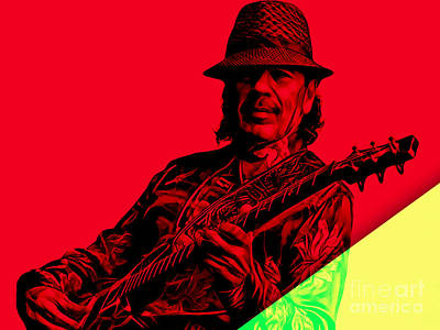 Music Mixed Media - Santana Collection by Marvin Blaine