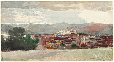 Winslow Homer Drawing - Santiago De Cuba by Winslow Homer