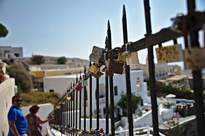 Photograph - Santorini Greece by Cendrine Marrouat
