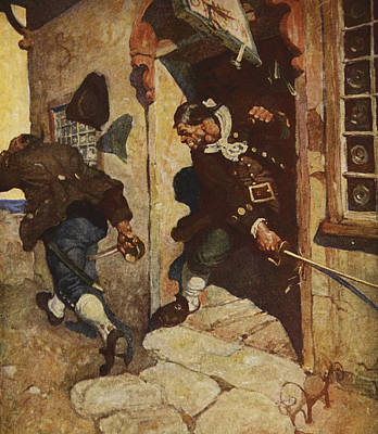 Scene From Treasure Island Art Print by Newell Convers Wyeth