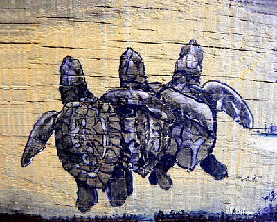 Green Sea Turtle Painting - Sea Turtles by M Gilroy