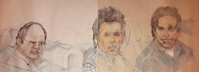 Seinfeld Painting - Seinfeld Comedy In Cars Album And Corden Comedy by Debbi Saccomanno Chan
