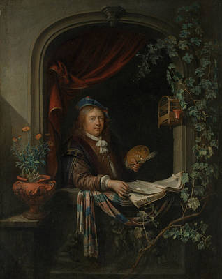 Painting - Self-portrait by Gerrit Dou