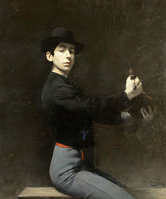 Self-portrait Print by Ramon Casas