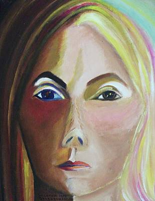 Suzanne Marie Leclair Painting - Self Portrait by Suzanne  Marie Leclair